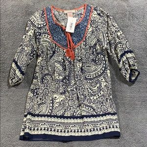 Navy and Orange tunic or dress